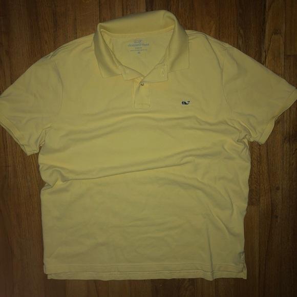 Vineyard Vines Men/'s S//S Corn on the Cob Yellow Classic Fit Pique Polo Shirt